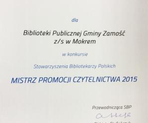 Mistrz Promocji Czytelnictwa 2015