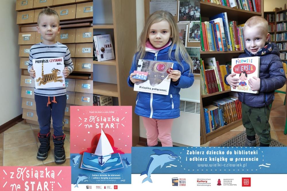 w ramach projektu Książka na START książeczki otrzymali Lenka, Gabriel i Szymon