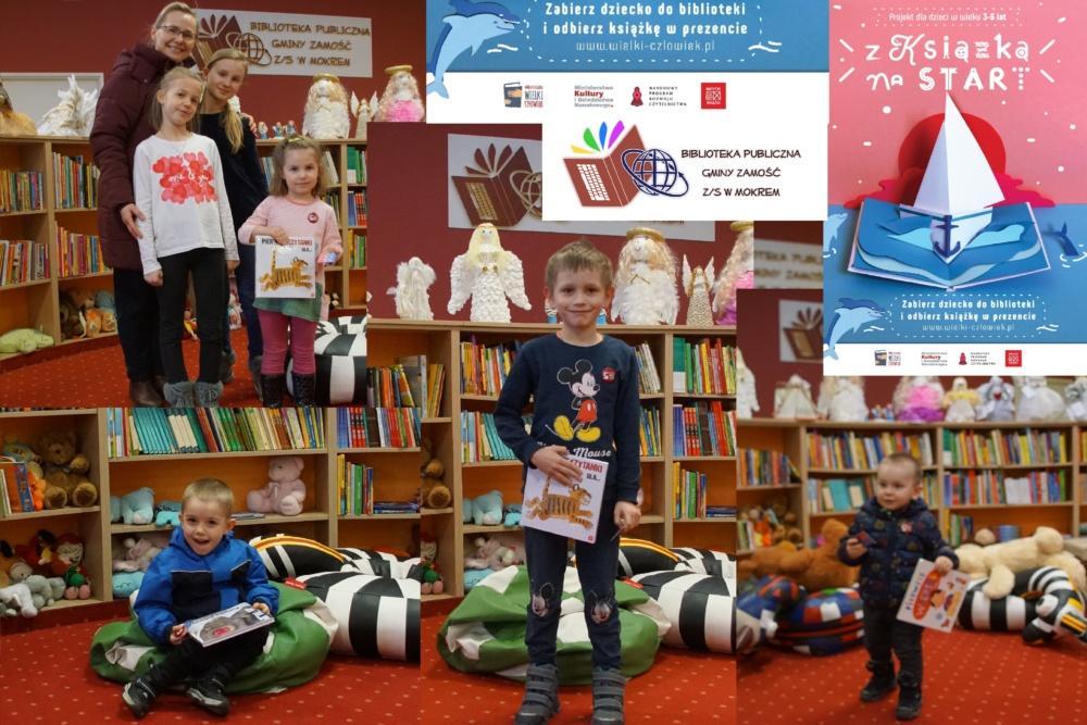 """książeczkę """"Pierwsze czytanki dla..."""" otrzymali: Hania, Hubert, Mikołaj i Dominik!"""