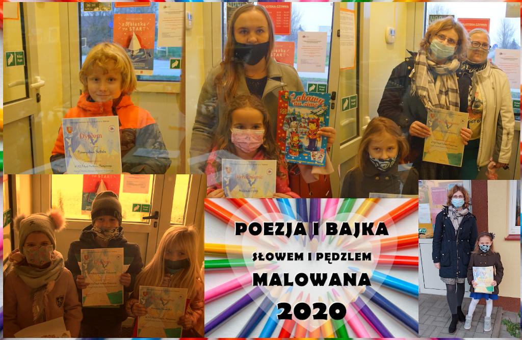 Kolaż ze zdjęć z odbioru nagród w konkursie POEZJA i BAJKA...