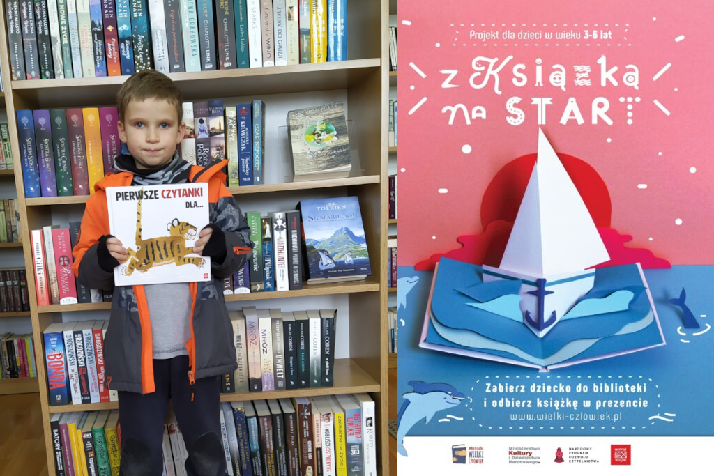 Mała książka - wielki człowiek - w ramach akcji książeczkę otrzymał Miłosz