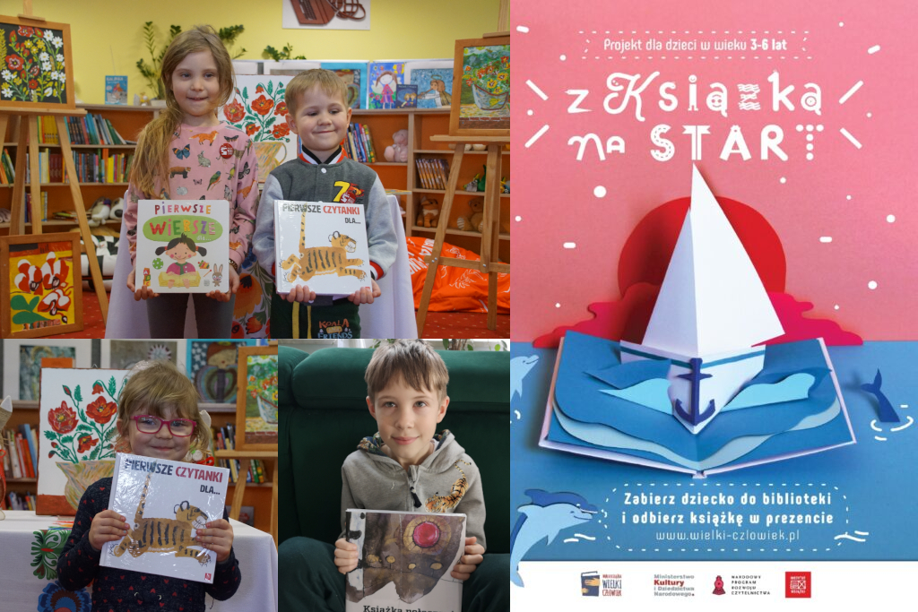 Mała Książka - Wielki Człowiek - książeczki otrzymali: Lena, Amelia, Borys, Brunon