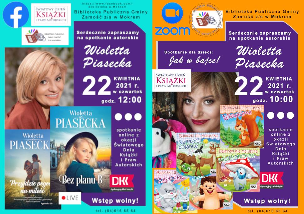 Spotkanie z Wiolettą Piasecką (plakat)