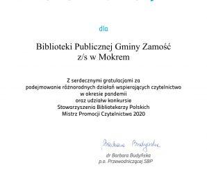 List gratulacyjny SBP